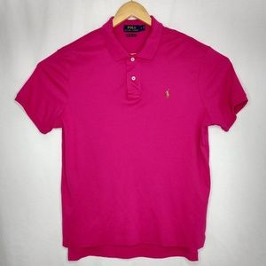 Polo Ralph Lauren Large Pink Pima Soft Touch Polo